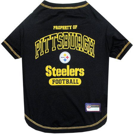 Pets First NFL Pittsburgh Steelers Pet T-shirt, Assorted Sizes