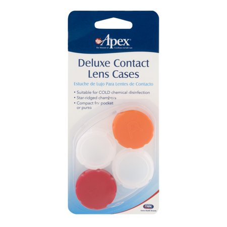 Apex Contactez Deluxe Cases Lens - 2 PK, 2.0 PACK