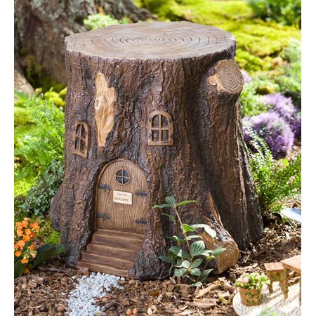 Problem Solvers Whimsical Fairy Garden Tree Stump Stool