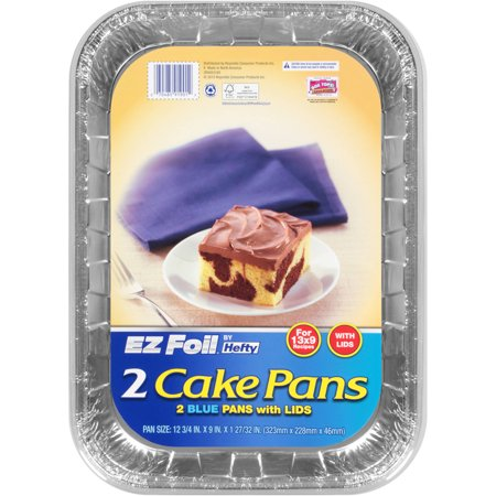 X Foil Cake Pans With Blue Lids