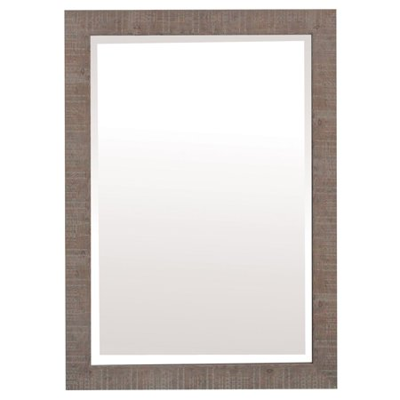 - Yosemite Home Shallow Brown Texture Wood Framed Wall Mirror