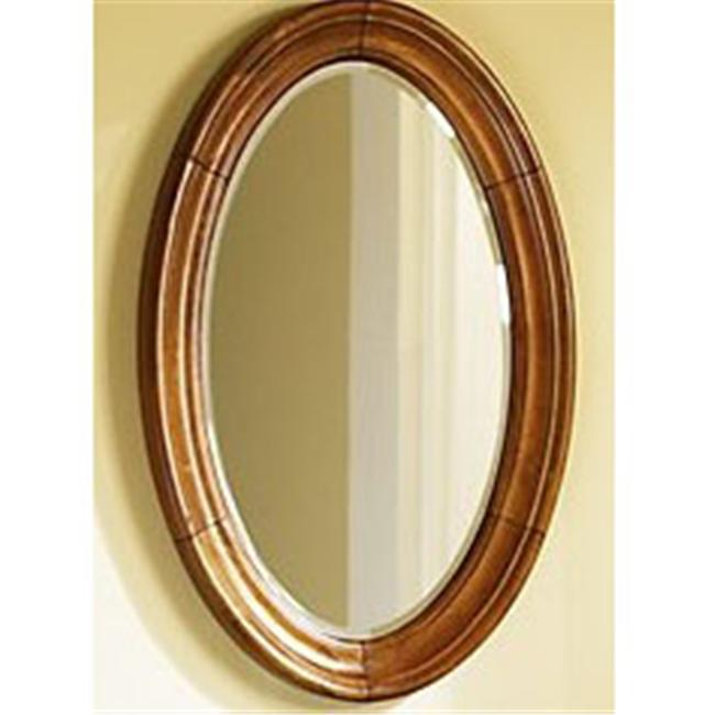 Kaco International 725-2200-P Guild Hall Large Vanity Mirror in a Distressed Pecan Krylon Finish