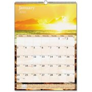 "DMW20028 At-A-Glance Scenic Monthly Wall Calendar - Monthly - 12"" x 17"" - 1 Year - January till December - 1 Month Single Page Layout - Chipboard, Paper - White"