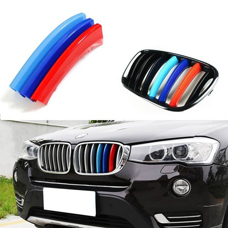 iJDMTOY Exact Fit ///M-Color Grille Insert Trims For BMW F25 X3 F26 X4 Center Kidney Grill (7