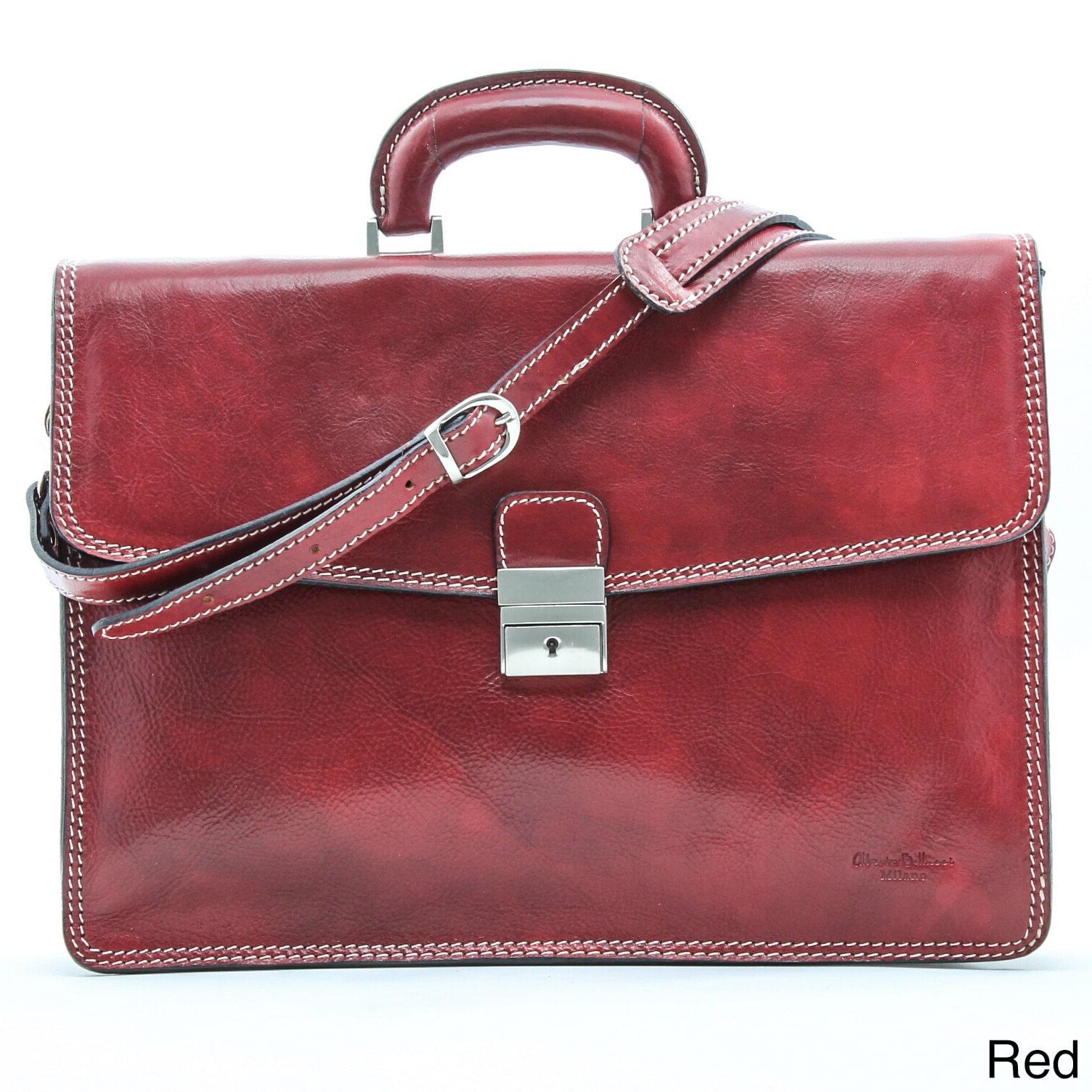 Alberto Bellucci Vernio Single Gusset Briefcase by Alberto Bellucci