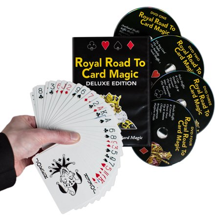 Magic DVD Set � Royal Road to Card Magic Deluxe - Complete Set with DVD and Delands Marked Deck - Learn Over 100 Card Trick Effects, Beginner to