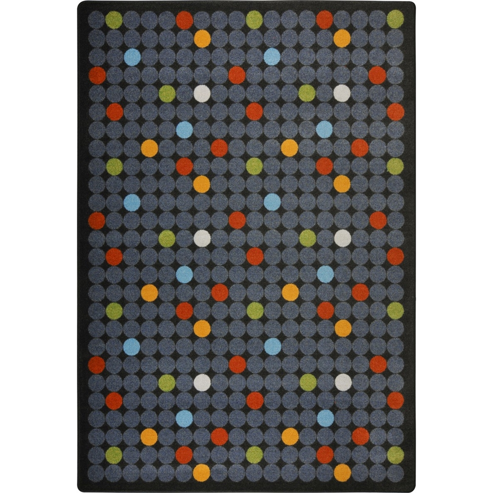 "Playful Patterns - Children's Area Rugs Spot On, 3'10"" x 5'4"", Licorice"