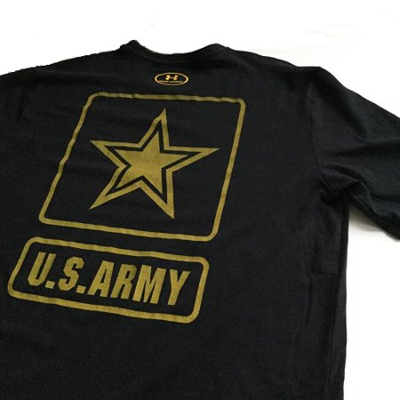 5b5ef2d01b Under Armour 1316685001SM Freedom Army Mens Small Black Short Sleeve T-Shirt