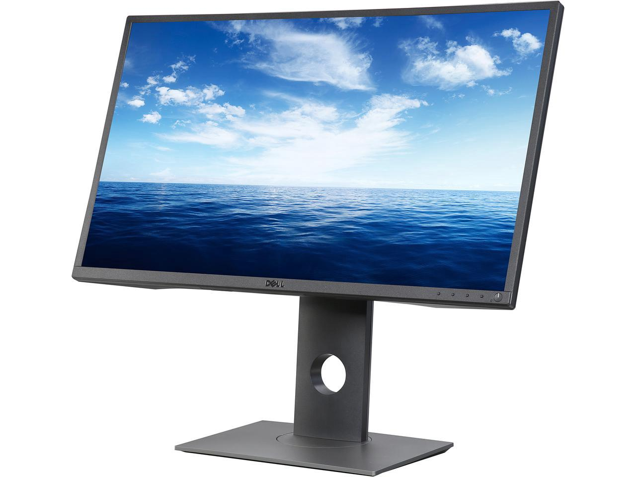"(Used - Like New) Dell Professional Series P2717H 27"" Black IPS LED Monitor 1920 x 1080 Widescreen 16:9 6ms Response Time 250 cd/m2 1000:1 HDMI VGA DisplayPort"