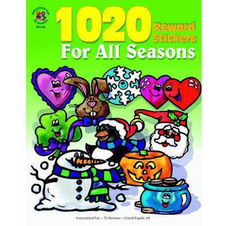 Instructional Fair 1020 Reward Stickers for All Seasons Stickers Sticker Book, 1
