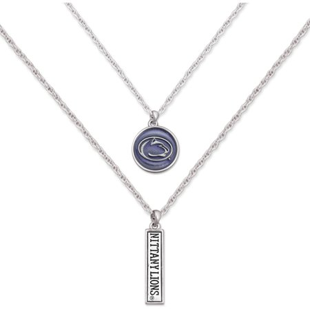 Penn State Nittany Lions Women's Campus Chic Double Down Necklace - No - Penn State Nittany Lions Necklace