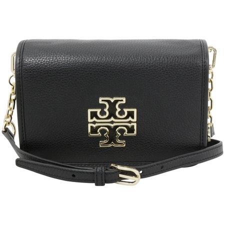 ecc23320e9b Tory Burch - Tory Burch Britten Black Leather Ladies Crossbody Handbag  31159880001 - Walmart.com