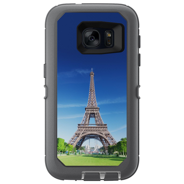 CUSTOM Glacier (Grey / White) OtterBox Defender Series Case for Samsung Galaxy S7 - Eiffel Tower Paris