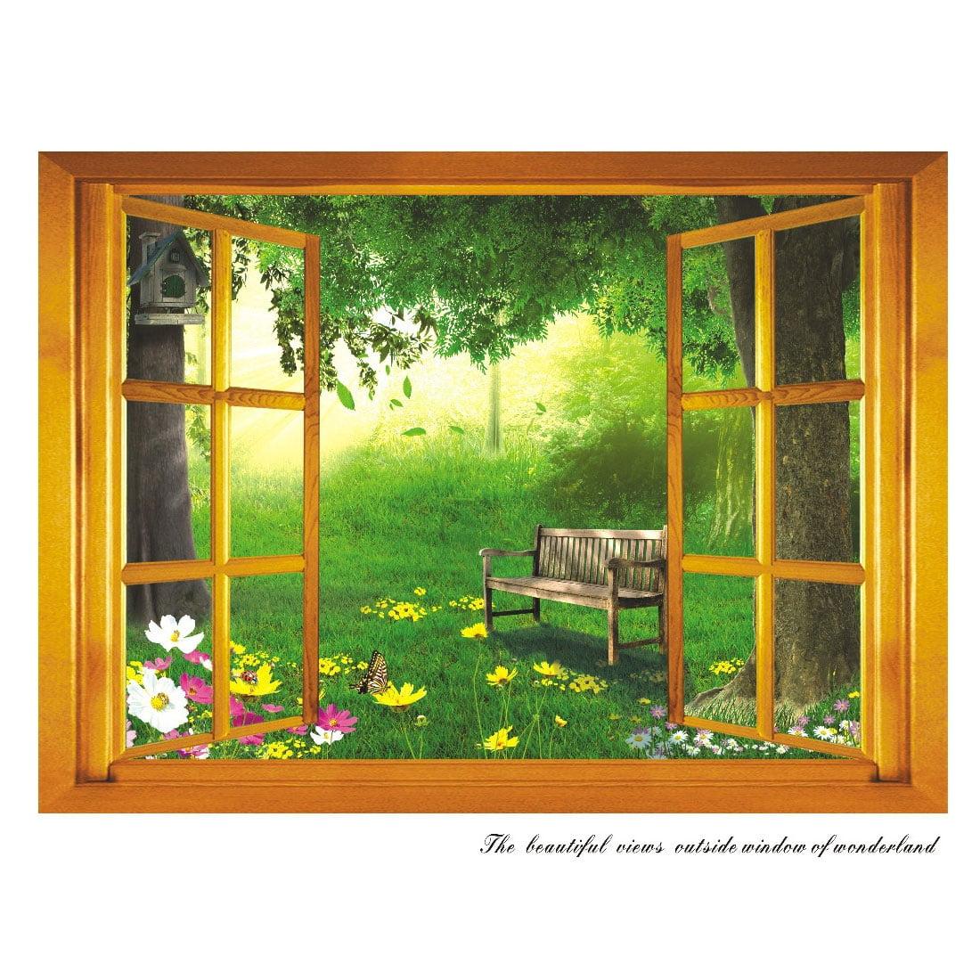 Home Decor Window Grassland Pattern Removable Wall Sticker Decal
