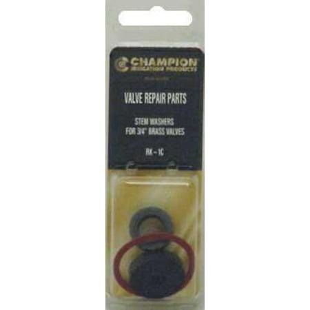 Champion Irrig Div Arrowhead Brass RK-1C 3/4-Inch Valve Stem Gasket Repair (Valve Stem Kit)