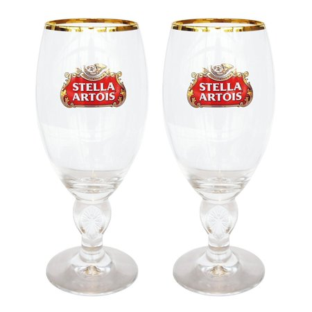 Silver Draft Beer (Stella Artois 40 Cl Beer Glasses Set of 2, Set of 2, 40 centiliter star chalices By Draft)