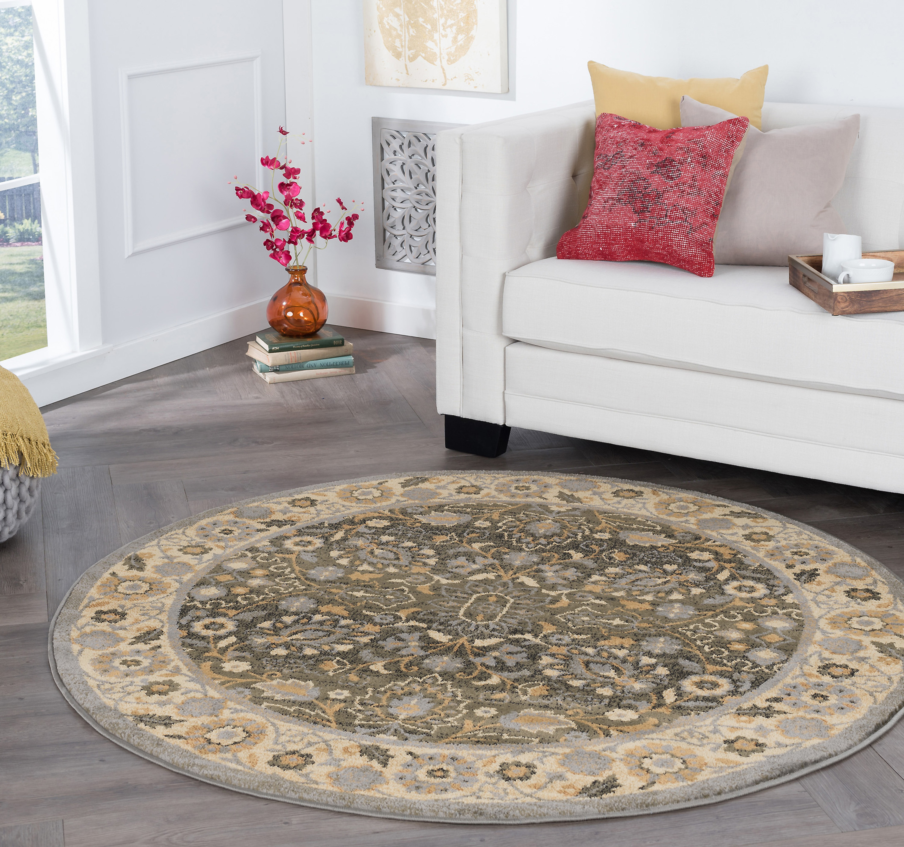 Bliss Rugs Jordan Traditional Area Rug Walmart Com