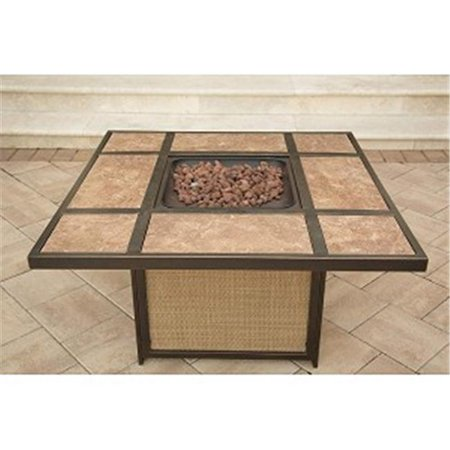 Traditions Tile Top Gas Fire Pit Lava Rocks (Game Of Thrones Fire Pit For Sale)
