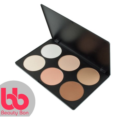 Contour kit, 6 Colors Professional Face Sculpting, Camouflage and Concealing Powder Makeup Blush Palette, By Beauty