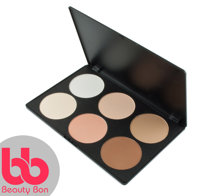 Contour kit, 6 Colors Professional Face Sculpting, Camouflage and Concealing Powder Makeup Blush Palette, By Beauty Bon®