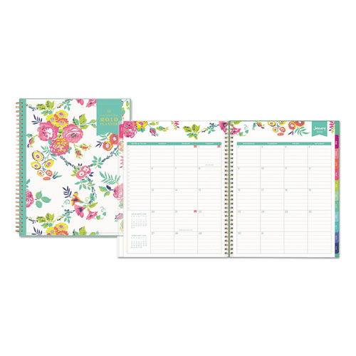 graphic about Day Designer Whitney English named Blue Skyâ\u201e¢ Working day DESIGNER CYO WEEKLY/Regular PLANNER, 8 1/2 X 11, WHITE/FLORAL, 2019