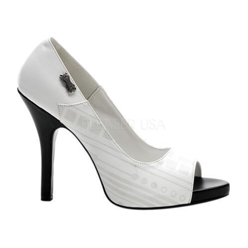 ZOM06UV W PU Demonia UV Reactive Cyber Women's Shoes WHITE Size: 8 by