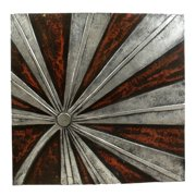 Stoneage Arts Hand-Carved Pli-Flower Wall Panel, Handmade in Indonesia