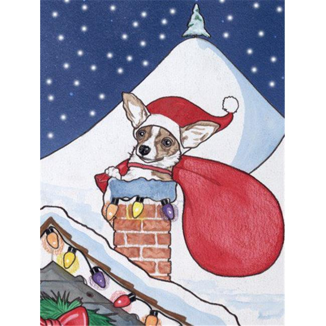 Pipsqueak Productions C909 Chihuahua Rooftop Christmas