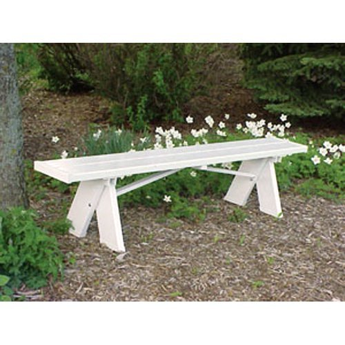 Dura-Trel Selena 6 ft. Backless Vinyl Bench