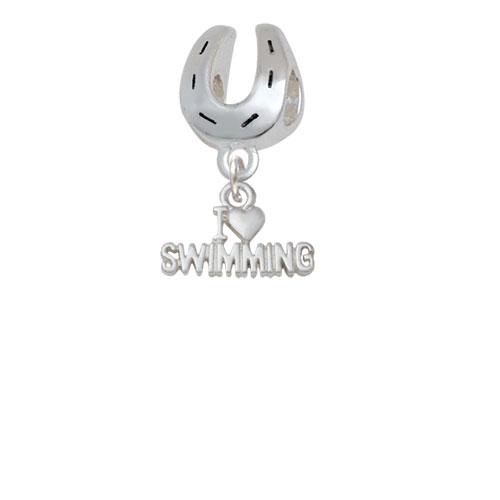 I Heart Swimming - Horseshoe Charm Bead