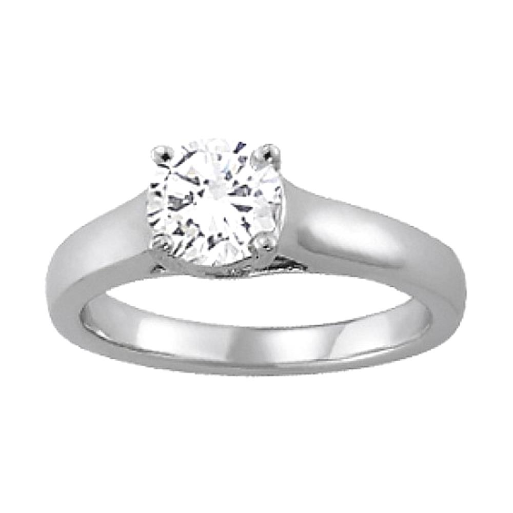 SPARKLING round diamond 1.25 carats solitaire engagement ...
