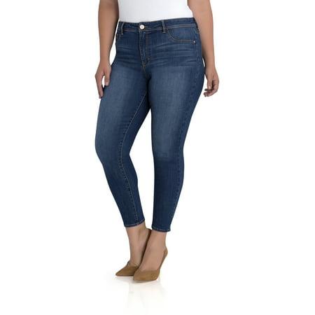 711aecc2b0a Jordache - Plus High Rise Super Skinny Ankle Jean - Walmart.com