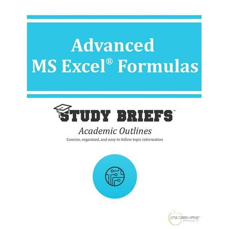 Advanced MS Excel Formulas - eBook