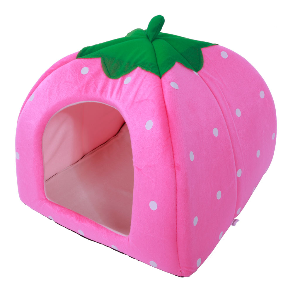 Ktaxon Soft Cotton Cute Strawberry Style Multi-purpose Pets Dog Cat House Nest Yurt Size S M L