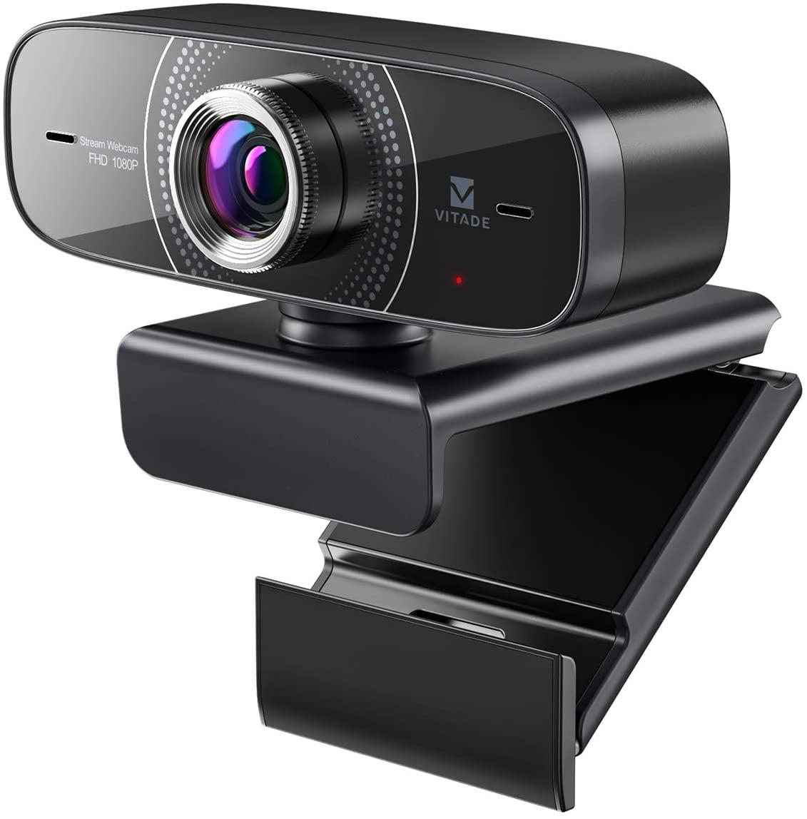 Webcam 1080P with Microphone HD Web Cam, Vitade 826M USB