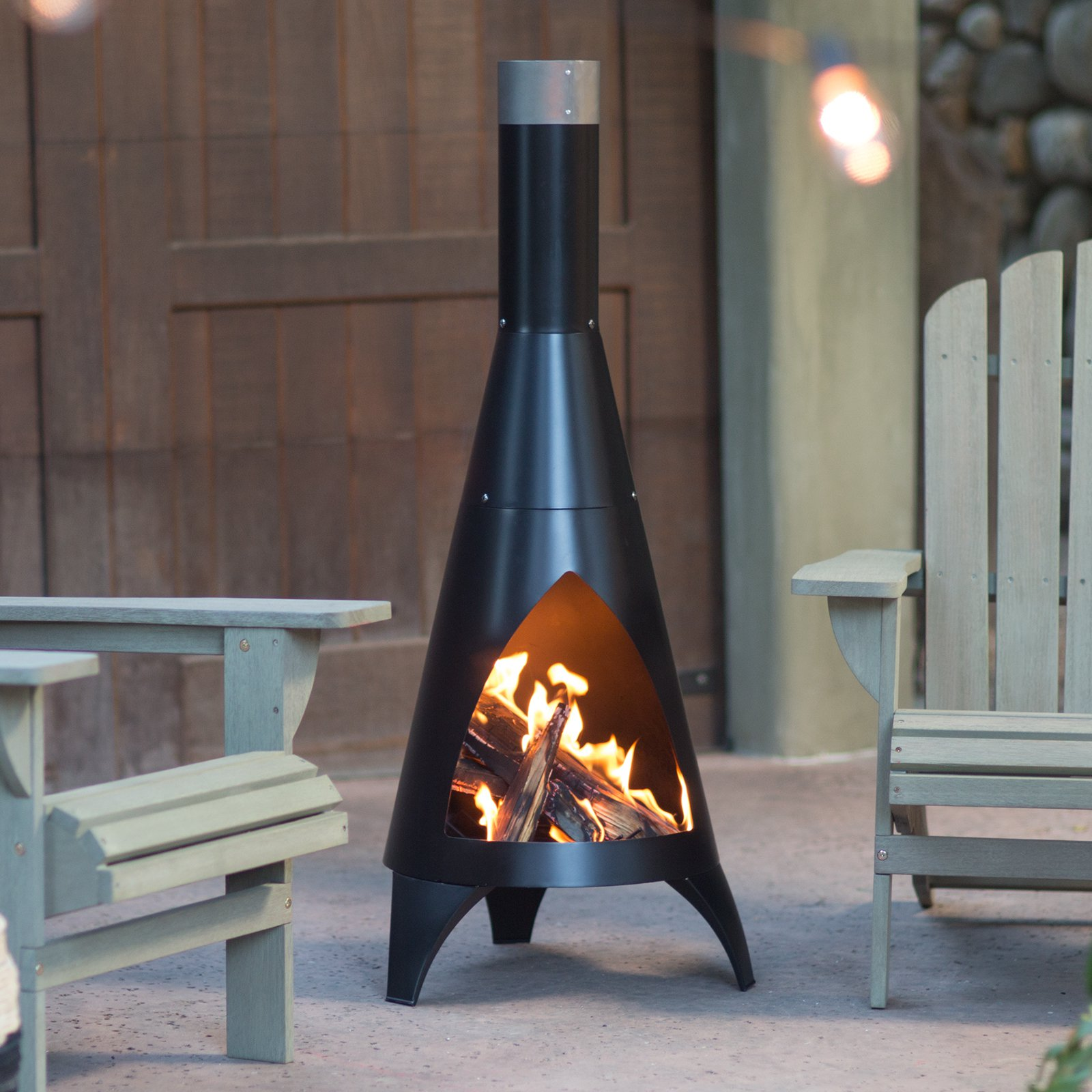Red Ember Alto Steel Chiminea