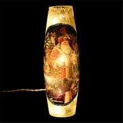 DecorFreak Long Cream Glass Jar - - Santa & Birds