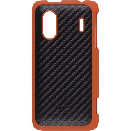 HTC Hard Shell Case for HERO S, EVO Design 4G - Black/Orange (Htc Evos)