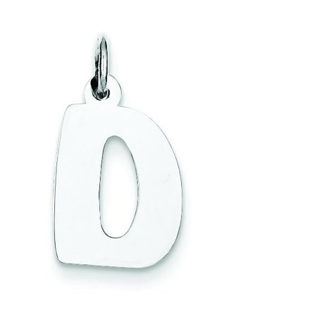 Sterling Silver Bubble Block Initial Letter D Charm