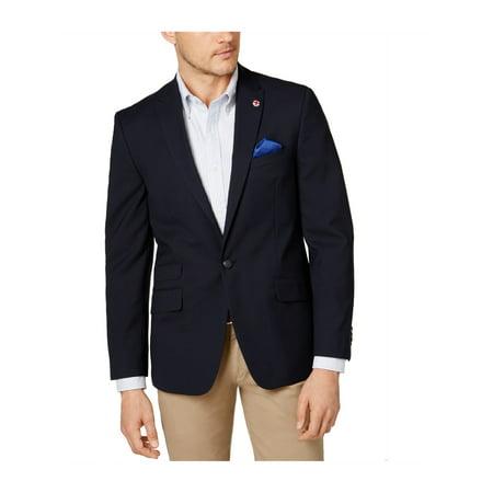 Ben Sherman Mens Peak Lapel One Button Blazer (Ben Sherman Mens)