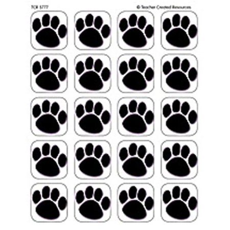 Teacher Created Resources TCR5777 Stickers Black Paw Prints - image 1 of 1