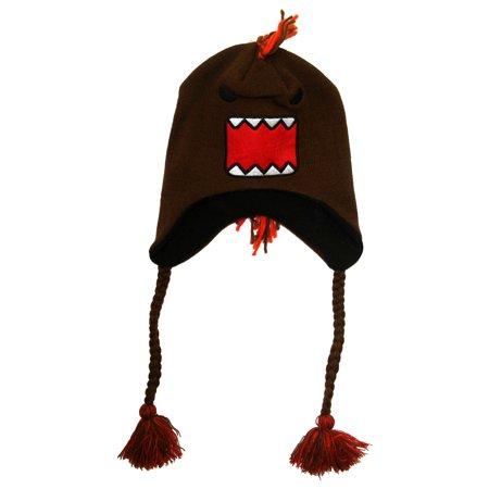 Domo Kun Angry Face Mohawk Adult Peruvian Laplander Hat