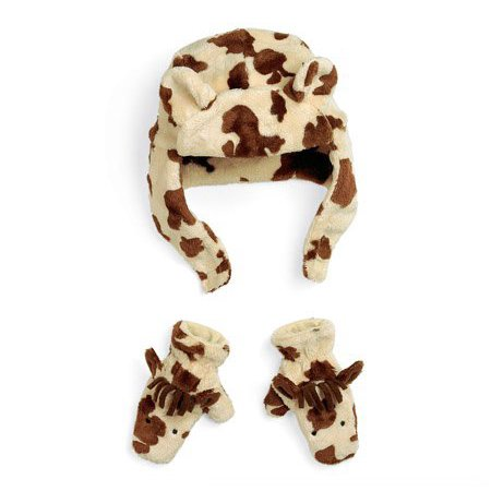 Fuzzy Wear Pinto Pony Hat Mitten Set, 1218 Months - Fuzzy Panda Hat