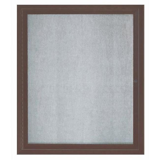 Aarco Products ODCC3630RIBA 1-Door Illuminated Outdoor Enclosed Bulletin Board - Bronze Anodized