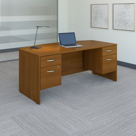 Bush Furniture Series C 72 in. Bow Front Desk with 3/4