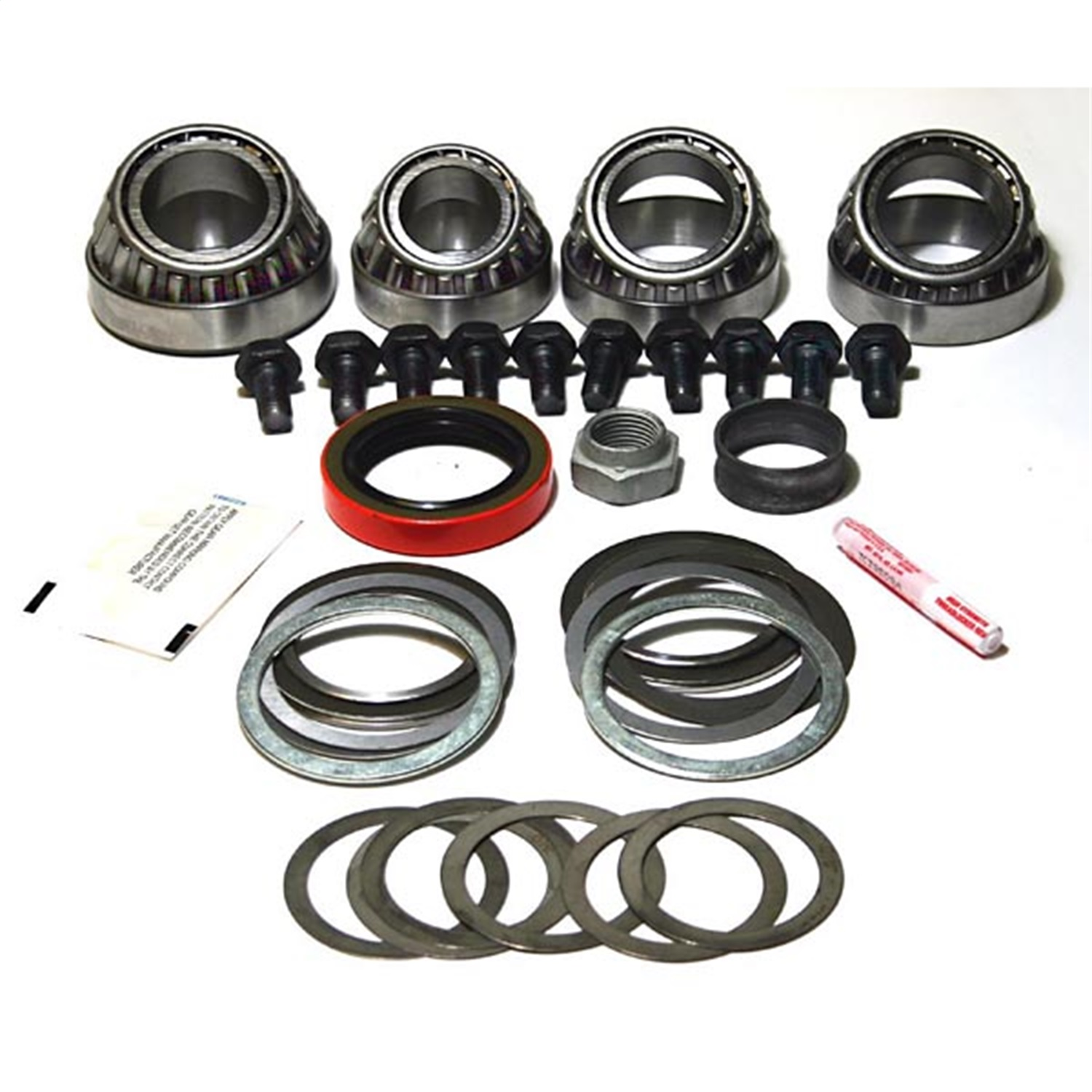 Alloy USA 352031 Differential Master Overhaul Kit; Incl. Bearings/Pinion Seals/Pinion Shims/Crush Sleeve/Pinion Nut/Ring Bear Bolts/ Marking Compound;