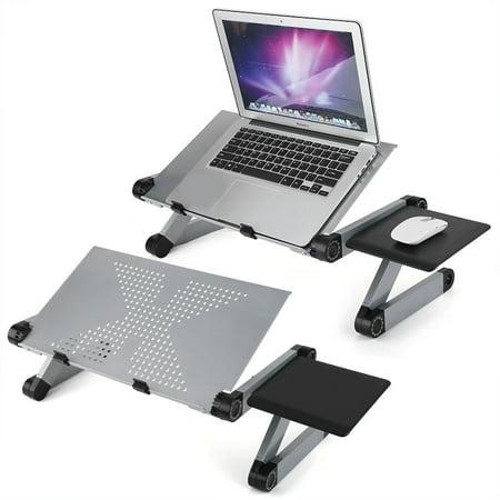VBESTLIFE Laptop Desk,Lap Desk Folding Laptop Notebook Adjustable Table Stand Tray For Home Bed Sofa