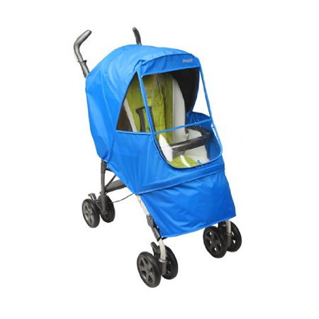 - Manito Elegance Alpha Stroller Weather Shield / Rain Cover - Blue