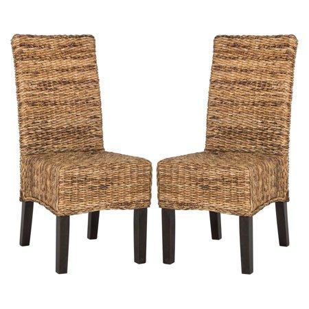 Safavieh Avita Wicker Dining Chair, Natural, Set of 2 ()