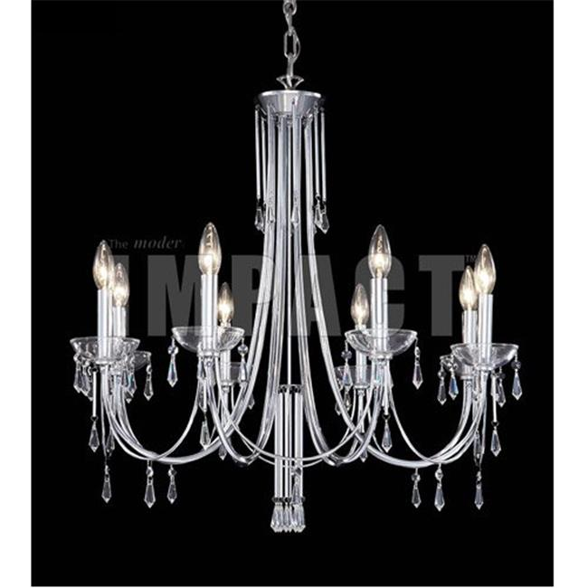 Contemporary Collection Chandelier, Silver & Imperial Clear Crystal - image 1 of 1
